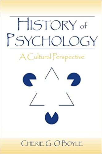 Book History of Psychology: A Cultural Perspective