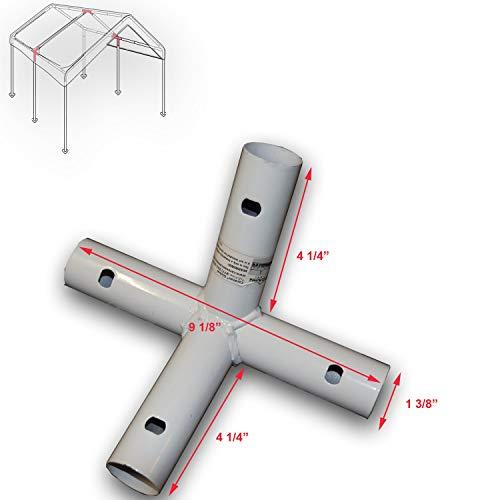 SORARA Carport Pole Dia.1.5 x 0.05 inch for 10 X 20 Caravan Canopy Carport Garage Part A