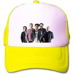 Annehoney The Temper Trap tour fashion Mesh Hat Yellow