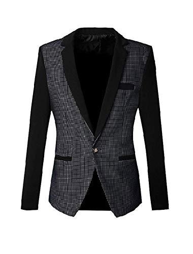 Chiusura Comode Fashion Prom Giacca Blazer A Modello Da Abiti Smoking Marineblau Uomo Taglie Slim Suit Fit Hx Bottoni zP4wqP