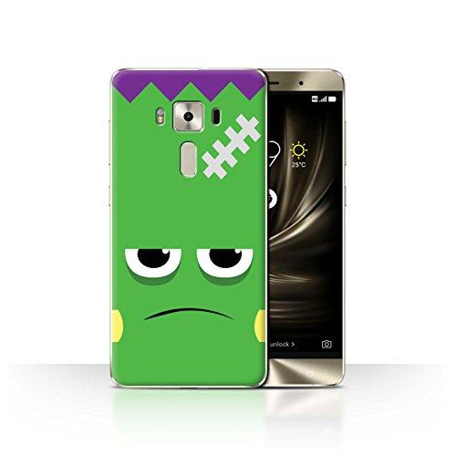 STUFF4 Phone Case / Cover for Asus Zenfone 3 Deluxe ZS570KL / Frankenstein Design / Halloween Character (Deluxe Frankenstein Mask)