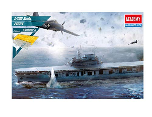 Academy USS Enterprise CV-6 Aircraft Carrier Battle of Midway Modeler's Edition Plastic Model Kits 1/700 ()