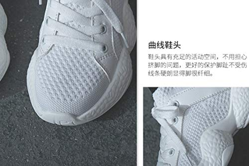 Botas Zapatos Cordones De Estudiantes Malla Zapatos Senderismo De Blanco Mujer Tobillo Harajuku Aire De De Al Libre Hop Deportes De Coreana Hip Top Mujeres Zapatos NANXIE Mujer De De High dSPZTT