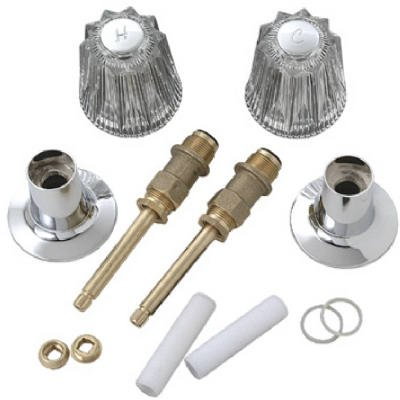 BrassCraft SK0267 Tub and Shower Rebuild Kit for Price Pfister Faucets Old Style Windsor, Clear and Chrome