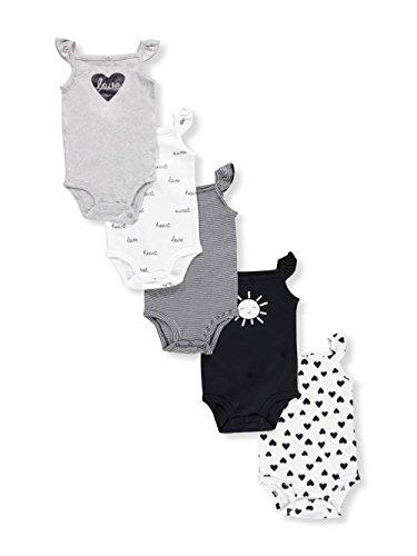 Carter's Baby Girls' 5 Pack Flutter Sleeve Original Bodysuits 18 Months -