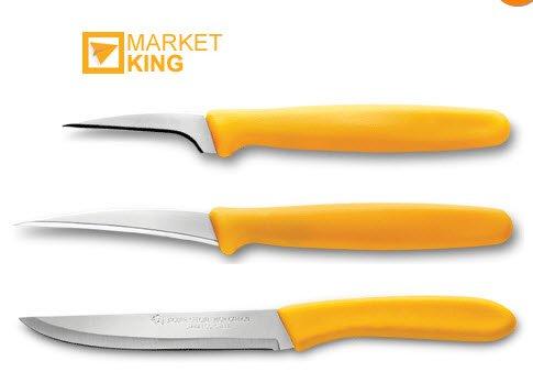 THAI ROYAL CARVING KNIFE KNIVE SET OF 3, FRUIT & VEGETABLE CARVE ART SUPERIOR by jaguar