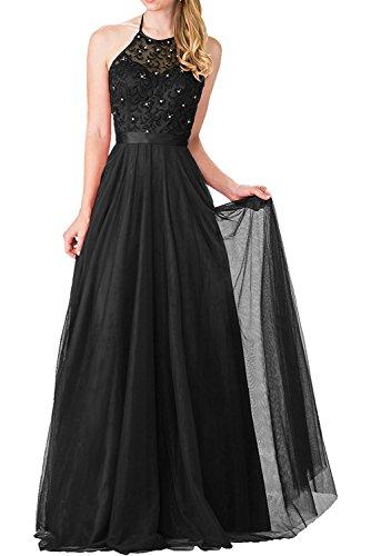 Vestido para trapecio negro Topkleider mujer RqXaOwXx