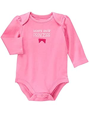 Baby Pink Daddy's Snow Princess Bodysuit