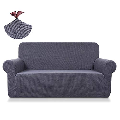 - TASTELIFE Loveseat Slipcover 1-Piece Thickened Stretch Fabric Furniture Protector Couch Cover for Sofa 2 Seaters(Grey)