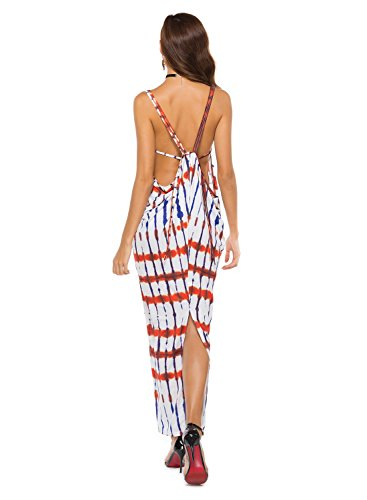 Aivtalk Women's Sexy Strappy Backless Sleeveless Party Long Maxi Dress Size M - #2