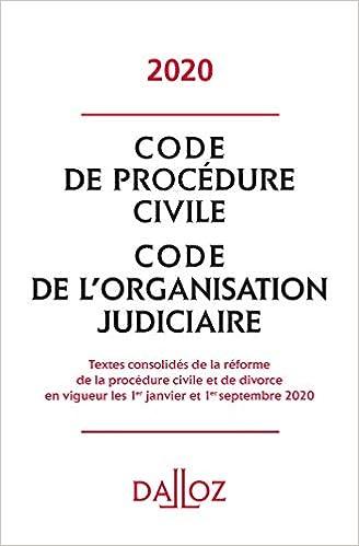 Code de procédure civile, Code de l'organisation judiciaire (Français) Broché – 5 février 2020