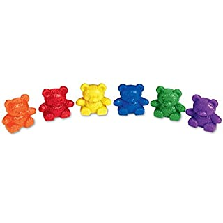 Learning Resources Baby Bear Counters, Homeschool Color Recognition, Math Skills, 102 Pieces, Assorted Colors, Ages 3+