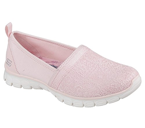 Pink Trim Slip Ons - Skechers Active Ez Flex 3.0-Quick Escapade Women's Slip On,Light Pink,5.5