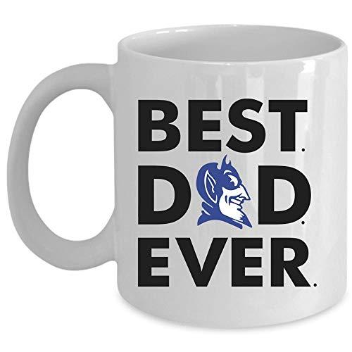 Best Dad Ever Coffee Mug, Duke Blue Devil Logo Cup for Coffee, Ceramic Mug For Home, Office (Coffee Mug 11 Oz - WHITE)