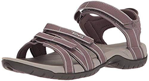 Beach Bundle: Teva Women's Tirra Sandals Plum Truffle 06 & Beach Mat