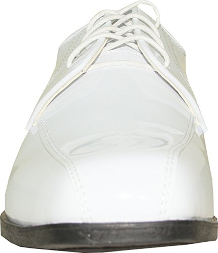 JEAN YVES Dress Shoe JY02 Double Runner Tuxedo for Wedding, Prom and Formal Event White