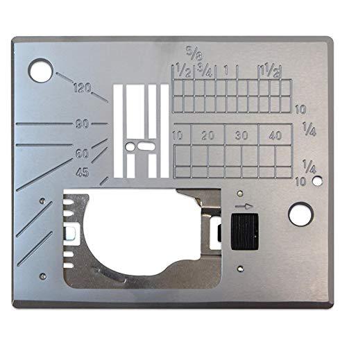 (Janome Straight Stitch Needle Plate for MC6600P, 6500, 6300, Elna 7300 w/ 7 Piece Feed Dog System)
