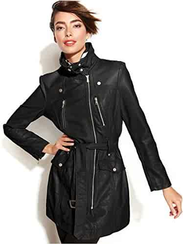 Kenneth Cole New York Womens Belted City Coat a86ec6240