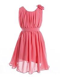 Fashion Plaza Girl's Chiffon Short Sleeveless Flower Girl Party Easter Dress K0081