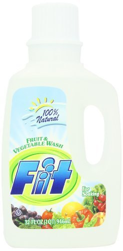 Fit Fruit & Vegetable Wash, Soaker/Refill Bottle, 32-Ounce Units (Pack of 3)