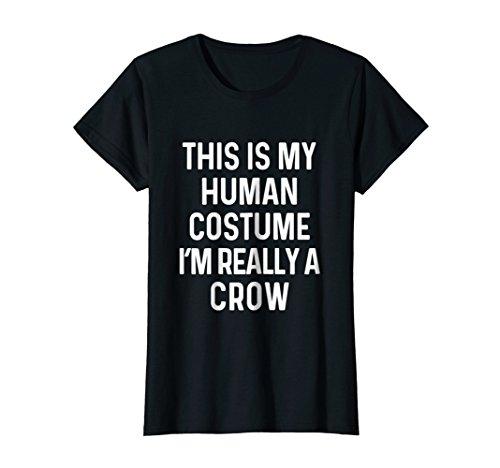Womens Funny Crow Costume Shirt Halloween Tshirt Idea Medium Black