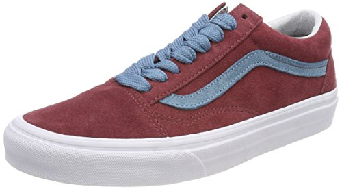 Vans Damen Old Skool Sneakers Rot (pizzo Oversize)