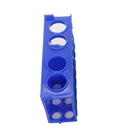 Portaprovette multi-funzionale Provetta Holder Plastica provette multifunzione 4 WAY provette di plastica (blu) Muhwa eCommerce Co. Ltd