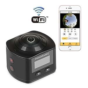 NEXGADGET 4K WIFI Action Camera 16MP 4K Waterproof Sports Camera 170 Degree Ultra Wide-Angle Lens 2 Pcs Rechargeable Batteries (BlackXDV)