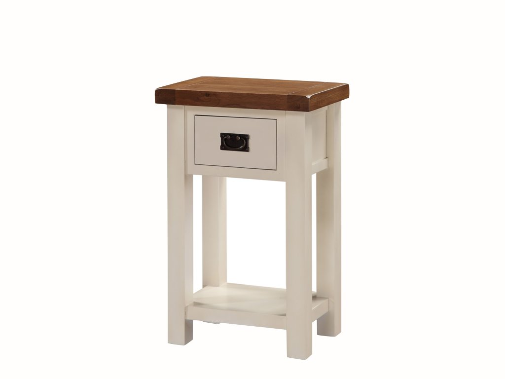 stone hall table. Alba Painted Oak Telephone Table - Small Console With Drawer Finish : / Stone White Hallway Living Room Furniture: Hall O