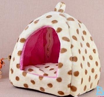icase4u® camita casa cama para animal pequeño mascotas perrito y gatito, size s 27x27x28cm (B-blanco): Amazon.es: Coche y moto