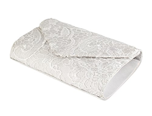 Evening Floral Handbags Clutch Party For White Clutch Wedding Envelope Womens And Lace Purses wSrwqgT