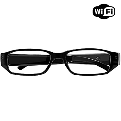 UMANOR Wi-Fi Hidden Camera Eyeglass HD Live Video Streaming, Motion Detection Alerts, Micro SD Card Recording Wireless Camera Hidden by UMANOR