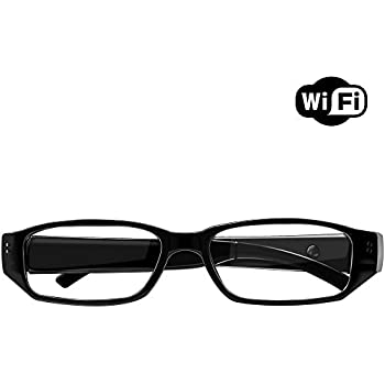 583c464f26 1080P Wireless WiFi Eyeglasses with Mini Camera- Indoor Outdoor Hidden  Camera Nanny Cam for iPhone Android Phone iPad PC with Motion Detection