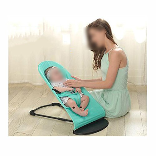 XNYY Kid's Chair Cradle Bed Balance Swings Chair Bouncers Baby Cradle Chair Baby Rocking Chair Entertainment (Color : Black (Summer mesh)) by XNYY (Image #3)
