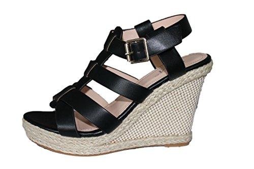noire Sandales Cm Paris Compensées femme vcWt8a