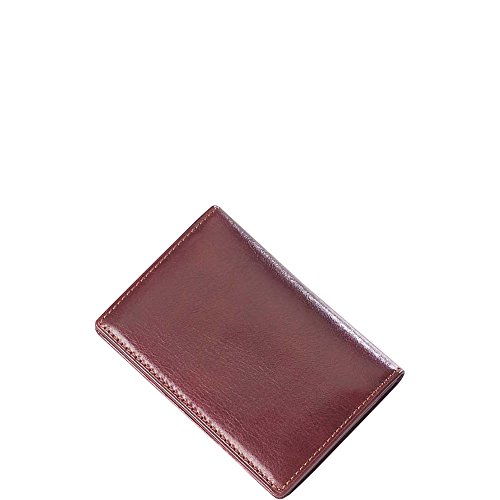 - Clava Glazed Leather Flap Over Card Holder (Glazed Italian Cognac)