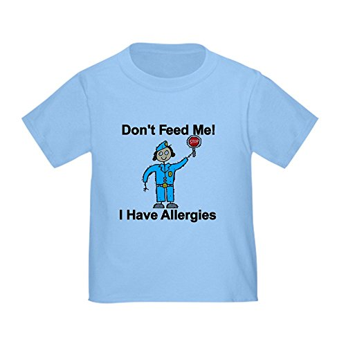 CafePress Don't Feed Me Cute Toddler T-Shirt, 100% Cotton Baby Blue