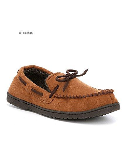 Roundtree & Yorke Men Memory Foam Moccasin House Slippers Shoes Chestnut Large US 11-12 jj7l7Rg