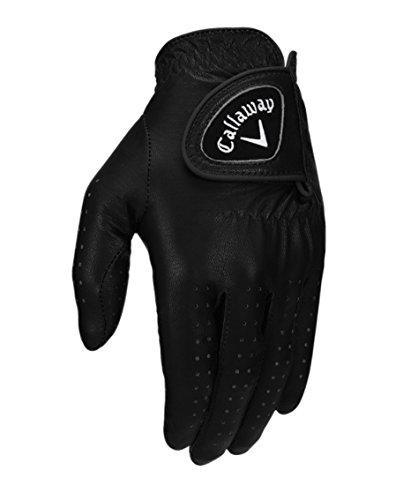 Glove Feel Black Golf - Callaway Golf 2017 Women's OptiColor Leather Glove, Black, Large, Worn on Left Hand