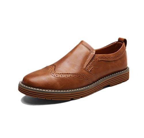 Casual Uomo Scarpe in Pelle Business Rotondo Morbido Nastro A Punta Stagione Colore Sandali Sportivi in ??Tela Boots Brown