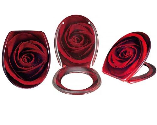 Abattant Lunette Wc Baccara Rose Rouge Amazon Fr Cuisine Maison