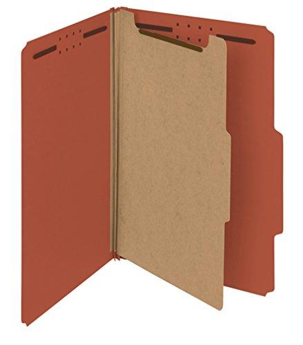 Smead 100% Recycled Pressboard Classification Folder, 1 Divider, 2