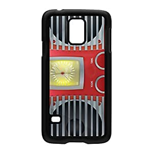 Vintage Radio Black Hard Plastic Case Snap-On Protective Back Cover for Samsung? Galaxy S5 by Nick Greenaway + FREE Crystal Clear Screen Protector
