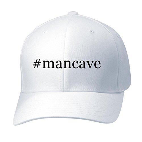 mancave-baseball-hat-cap-adult-white-small-medium