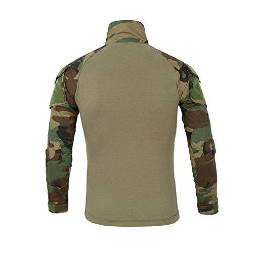 LANBAOSI Chemise de Combat Militaire Homme Airsoft Shirt Tenue Camouflage Uniforme Tactique Séchage Rapide à Manches… 2
