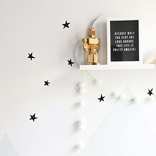 Little Star Wall Border - Wee Gallery WeeCals, Easy to Peel Removable Wall Art Decals For Baby's Nursery - Scribble Stars