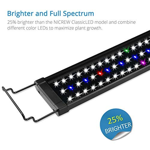NICREW ClassicLED Plus LED Aquarium Light, Full Spectrum Fish Tank Light for Freshwater, 30 to 36-Inch