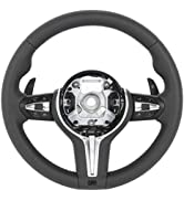 KIMISS Steering Wheel, Upgrade for F80 M3 Style Steering Wheel with Paddle Shifters Fits for 3 Se...