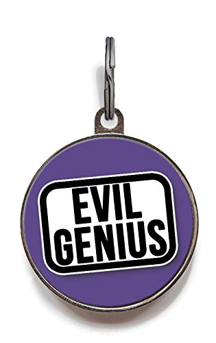 Wag-A-Tude Tags Evil Genius Pet Tag - Funny Pet ID, used for sale  Delivered anywhere in USA