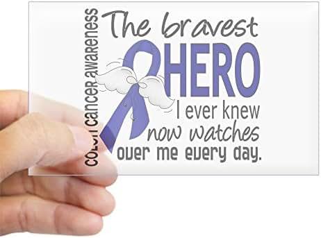 CafePress Bravest Hero I Knew Colon Cancer Sticker (Rectangl Rectangle Bumper Sticker Car Decal